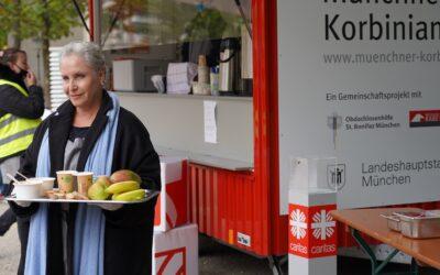 Katerina Jakob in der Münchner Korbinian-Küche